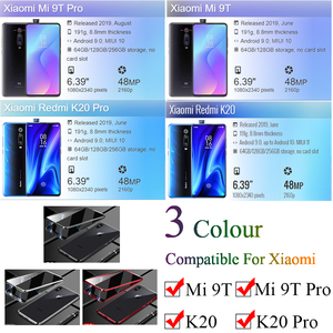Image 2 - Metal Magnetic Phone Case For xiaomi mi 9t pro Double Sided Glass Cases On Xiami Xiomi 9 t 9tpro t9 k20 360 Funda Cases Fundas