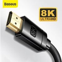Cavo compatibile HDMI Baseus 8K per Xiaomi Mi Box 8K/60Hz 4K/120HZ 48Gbps cavo digitale per proiettori Monitor TV portatile PS5 PS4