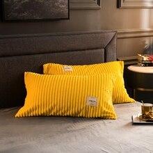 1 Pieces 100%Polyester Super Warm Coral Fleece Pillowcase Queen size cover pillow casee