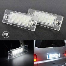 2 pçs conduziu a luz da placa da lâmpada da placa de licença para vw volkswagen multivan passat variante transportador caravelle para skoda superb