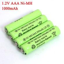 Piles NI-Mh AAA 1.2v, 1000mAh, rechargeables, pour voiture électrique télécommandée, jouet RC ues, 1.2V