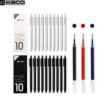 YOUPIN KacoGreen KACO 0,5mm Zeichen Stift Gel Stifte Gal Tinte Glattes Schreiben Durable Unterzeichnung schreiben liefert Schwarz Blau Refill