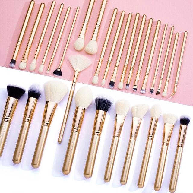 Jessup brush Makeup brush set 6pcs-30pcs Golden / Rose Gold POWDER EYESHADOW CONCERLER foundation brush 5