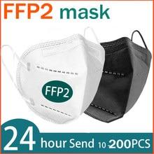 6 camadas ffp2 máscara de boca kn95 poeira maske ce fpp2 maske gripe máscaras faciais proteger rosto anti filtro mascarillas macio respirável