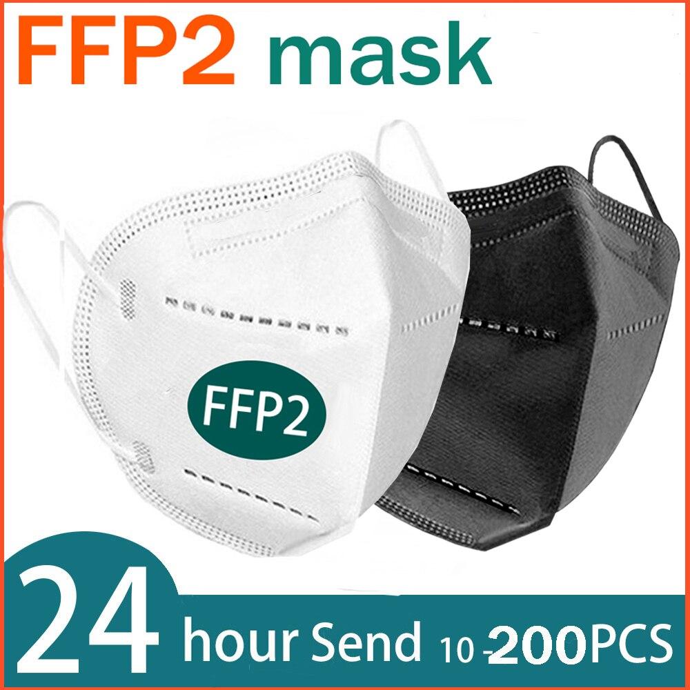 6 couches FFP2 masque buccal KN95 poussière maske CE fp2 maske grippe masques faciaux masque facial Anti masques filtre mascarillas doux respirant