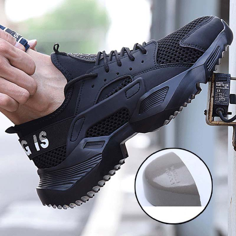 2019 New Work Safety Shoes Fashion Sneakers Ultra-light Soft Bottom Men Breathable Anti-smashing Steel Toe Work Boots