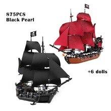 Toys Boys Bricks Building-Blocks Anne-Model Ships-Queen Birthday-Gifts Caribbeaned Black Pearl