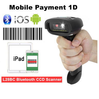 Barcode Scanner Bluetooth Portable 1D Reader Mobile Payment Bar Code Scanner CCD for Inventory POS Terminal