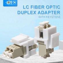 50 шт многорежимный Дуплексный lc оптоволоконный адаптер соединитель