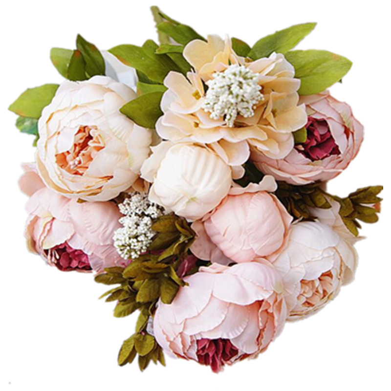 1Bunch Peony Silk Fake Artificial Flowers For Home And Hotel Decoration 3