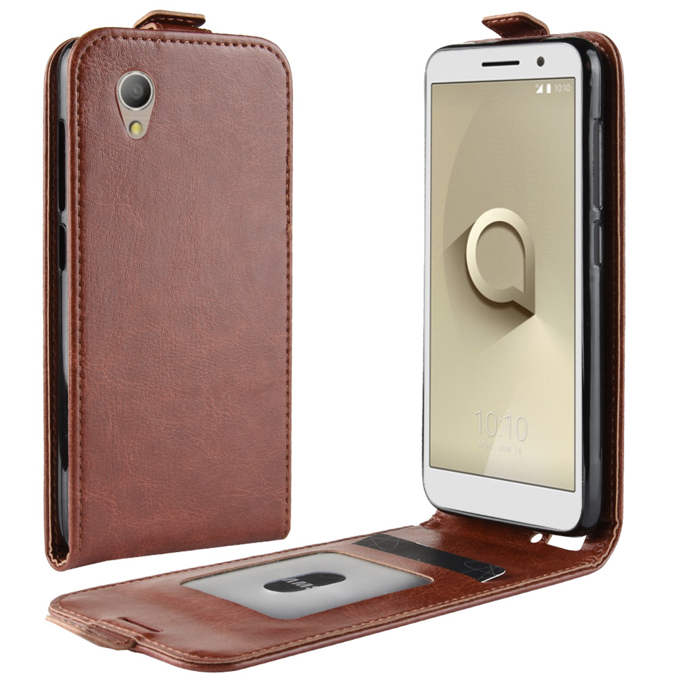 5.0Inch Case For Vodafone Smart E9 VFD527 Cover Down Open Style Flip Leather Cases Card Slot Black 9E VF527 VF VFD 527 E-9