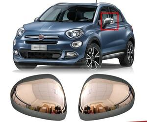 KOUVI ABS хромированное боковое зеркало заднего вида, наклейка, литье, аксессуары для FIAT 500X 2014 2015 2016 2017 2018 2019