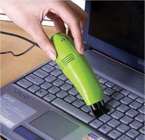 Portátil mini escova teclado usb coletor de pó usb aspirador de pó projetado para limpeza computador teclado telefone uso