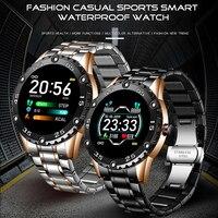 LIGE Männer Smart Uhr Herz Rate Blutdruck Monitor Smartwatch Fitness Tracker Sport Wasserdichte Uhren Mann für Android iOS