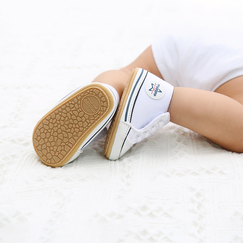 2021 New Classic Baby Canvas Shoes Toddlers Rubber Sole Moccasins Anti-slip Infant First Walkers Boys Girls Newborn Crib Shoes 4