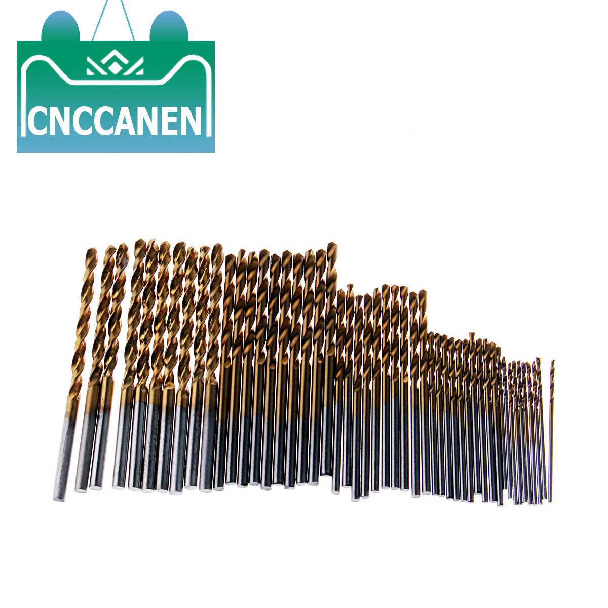 50Pcs 1/1.5/2/2.5/3mm Titanium Coated Twist Drill Bits HSS High Speed Steel Drill Bits For Woodworking Plastic And Aluminum