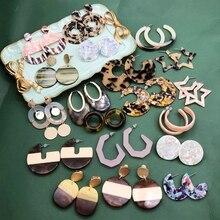 Free Shipping Tortoiseshell Acetate Acrylic Geometric Earring