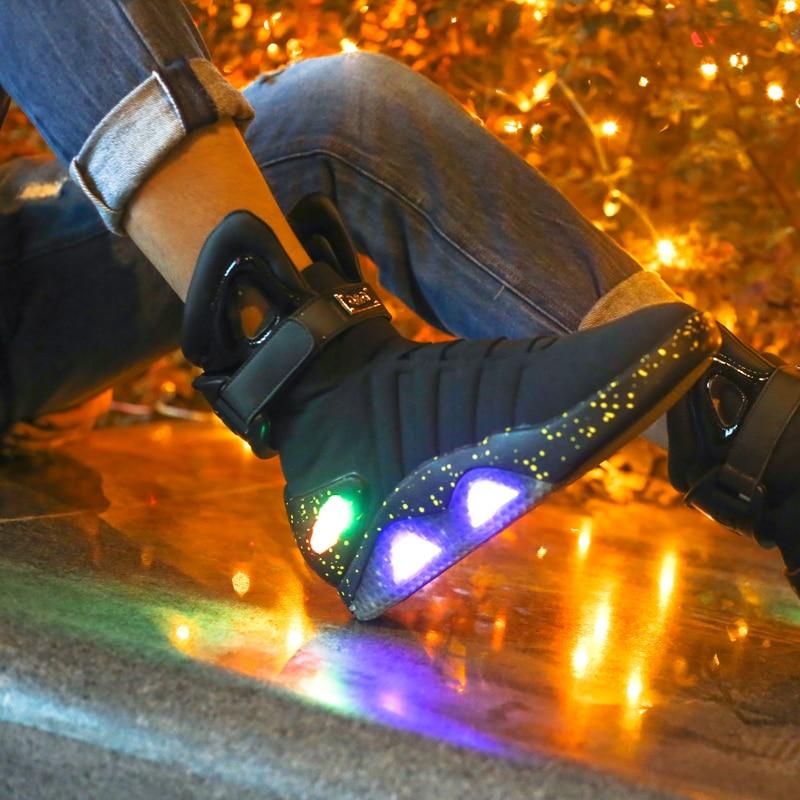 Обувь для взрослых с зарядкой через usb; светящаяся обувь для мужчин; модные светящиеся повседневные мужские кроссовки; Бесплатная доставка - 4