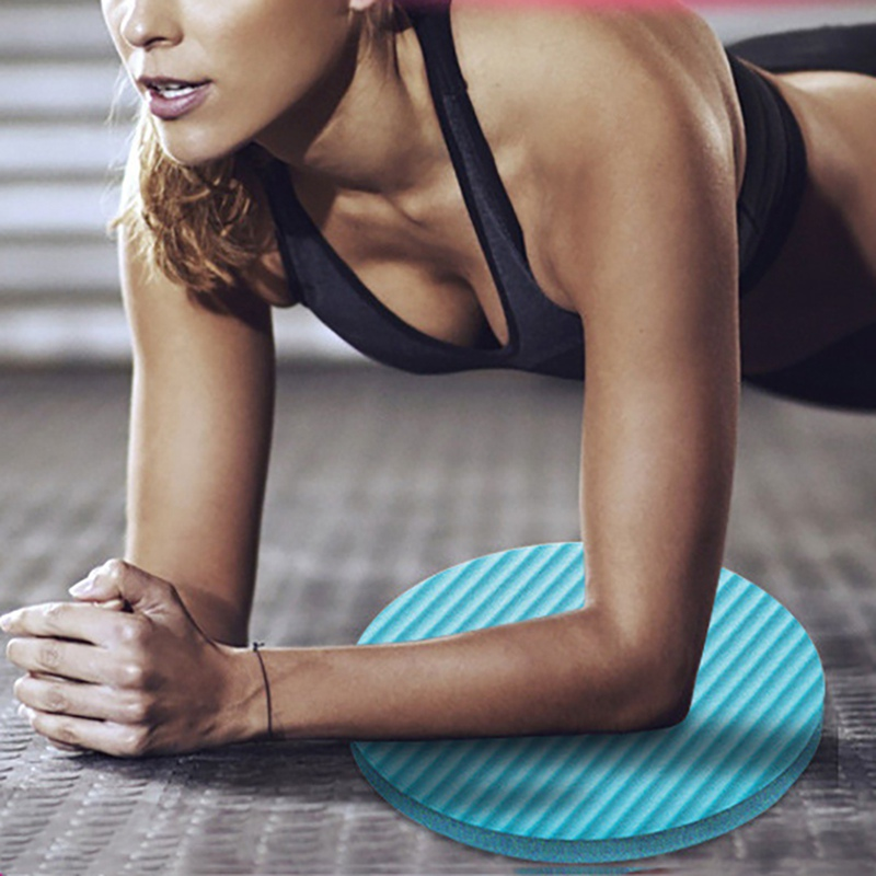 Fitness Yoga Flat Support Pad Elbow Knee Wrist Protection Non-slip Yoga Exercise Mat Random Color