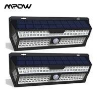 1/2 Pack Mpow 132 LED Solar Light PIR Motion Sensor Wall Lamp White Outdoor Garden Light IP65 Waterproof For Garden Decoration