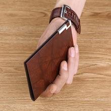 100% carteira de couro moda masculina high-end grande capacidade fivela de metal multi clip mini carteira de cartão de crédito carteira de motorista de licença clipe