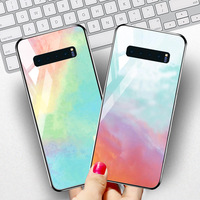 silicone case Tempered Glass Case For samsung galaxy S10 S9 S8 plus Cases Space Silicone Covers for samsung S10E note 8 back cover (2)