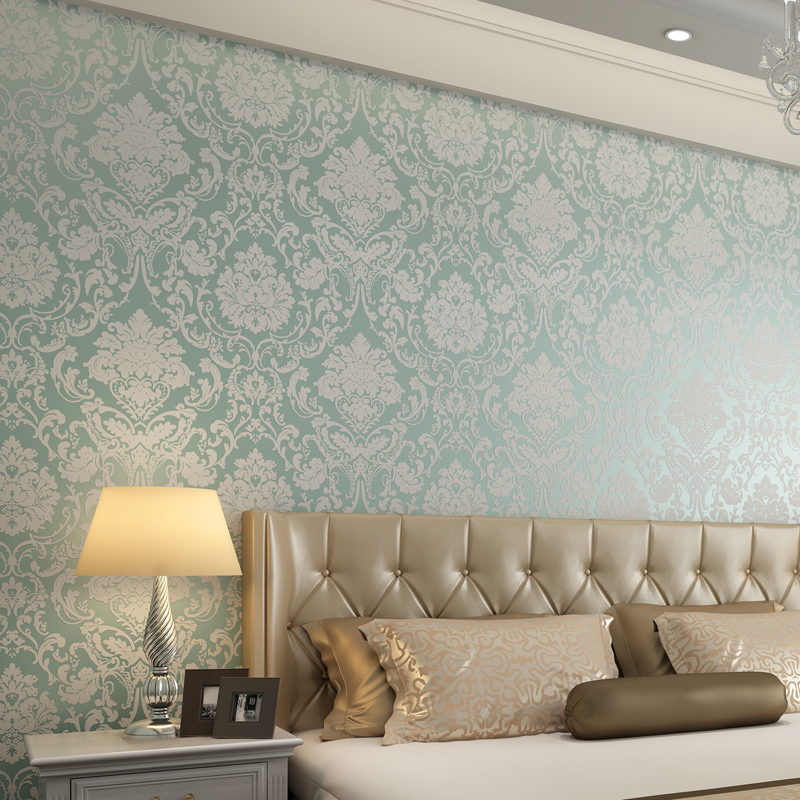 TV backgroundNew non-woven fabric European flower wallpaper 3D new home decoration wall paper Warm living room bedroom