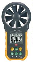 MCH-9831B Digital Anemometer with Temperature and Humidity Wind Speed Tester digital anemometer wind speed air volume humidity measurement tester backlight display support usb real time