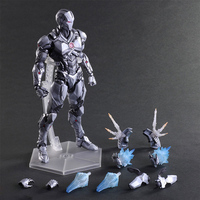 Play Arts kai super heroes marvel action figure Ironman gray Armor PA avenger 28cm model toy collection