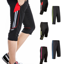 Мужские тренировочные брюки, новые дизайнерские штаны для футбола, бега, бега, 3/4 с карманом на молнии