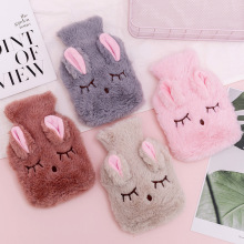 Cute PVC Stress Pain Relief Therapy Hot Water Bottle Bag with Knitted Soft Cozy Cover Winter Warm Heat Reusable Hand Warmer