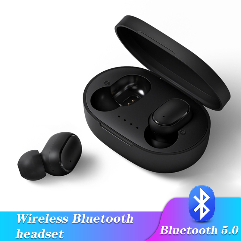 A6S 5.0 Bluetooth Wireless earphones <font><b>TWS</b></font> <font><b>earbuds</b></font> headphones Noise Cancelling Mic Charging Box for ios android phones tablets image