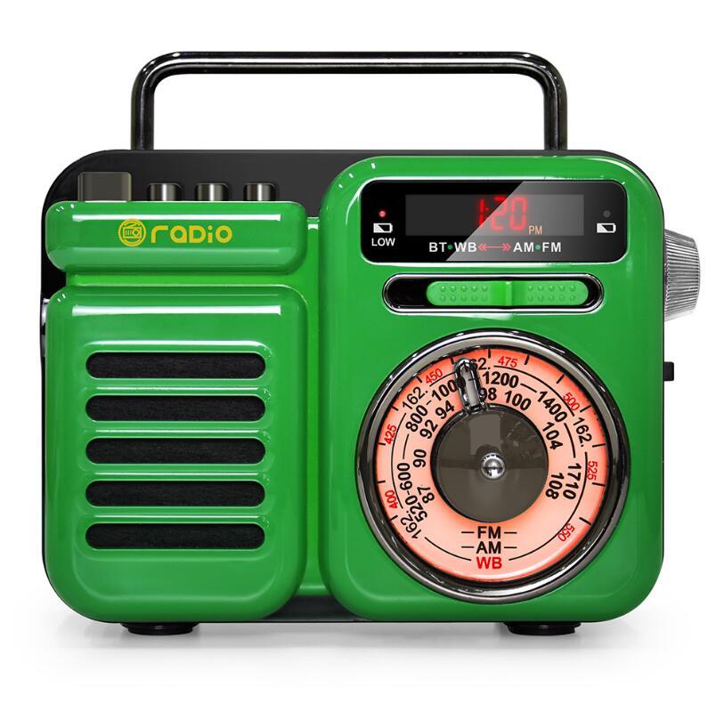 New Arrivals In 2021 Street Retro Style Audio AM FM WB Hand-Cranked Solar Outdoor Radio Portable Bluetooth Speaker SOS Alarm