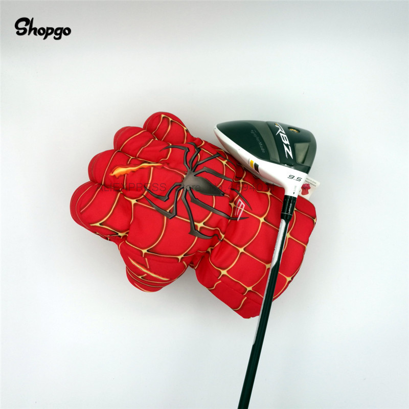 Red Hand The Fist Golf Driver Headcover 460cc Spider Boxing Wood Golf Cover Golf Club Accessories Novelty Great Gift