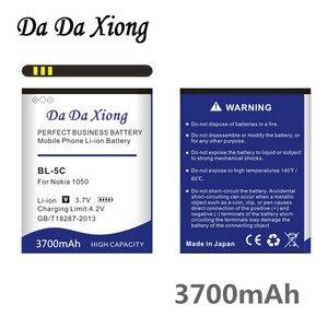 Da Xiong 3700mAh BL-5C литий-ионный аккумулятор для телефона Nokia C2-06 C2-00 1100 6600 6230 5130 2310 3100 6030 3120 3650 6263