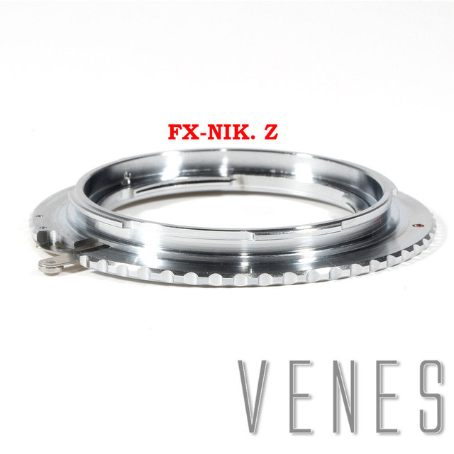 עדשת מתאם עבור FX Nik Z עדשת מתאם טבעת לfujifilm פוג י FX עדשה לניקון Z הר מצלמה ניקון Z6 ניקון Z7 (כסף)
