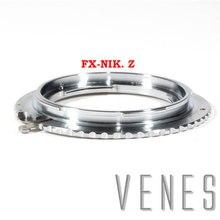 Lens Adapter for FX Nik Z Lens Adapter Ring for Fujifilm Fuji FX Lens to Nikon Z Mount Camera Nikon Z6 Nikon Z7 (Silver)