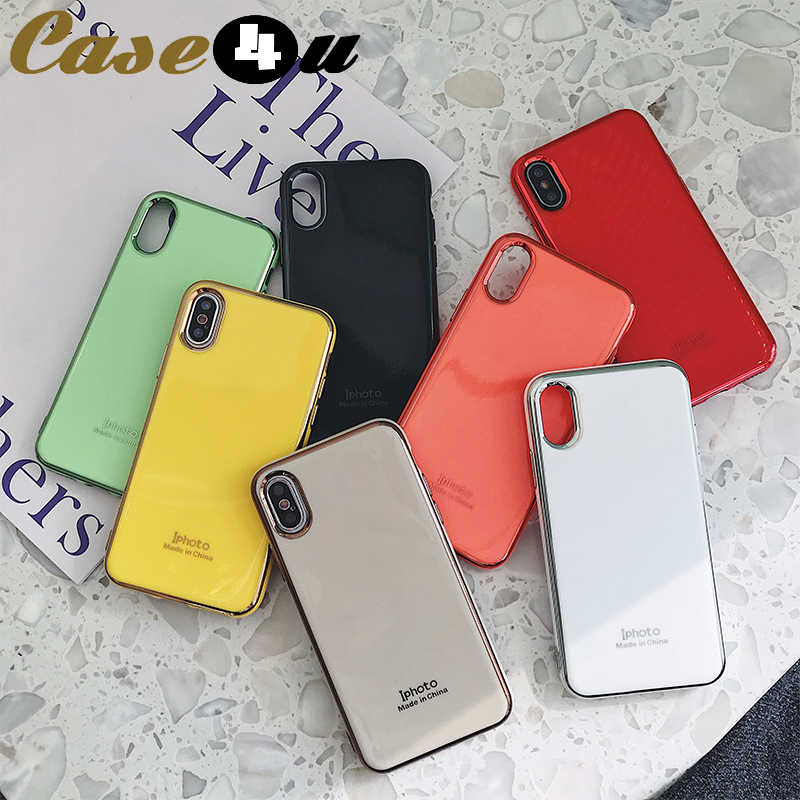 高級メッキミラー電話ケース XS 最大 XR キャンディーカラーソフト TPU iphone 10 6s 7 8 プラス 8 プラス 7 プラス