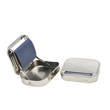 Portable Cigarette Tobacco Roller Manual Rolling Machine Box Case Durable Metal Maker Freeship