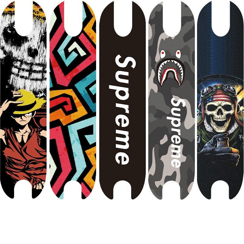 Scooter Sticker Durable Scrub Pad Sticker Sticker Personalized Decorative Sticker New Sticker Longboard Skateboard  Kids Skate