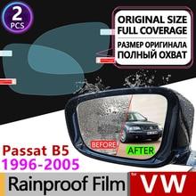 For Volkswagen VW Passat B5 B5.5 1996 - 2005 Full Cover Anti Fog Film Rearview Mirror Rainproof Anti-fog Foils Clear Accessories