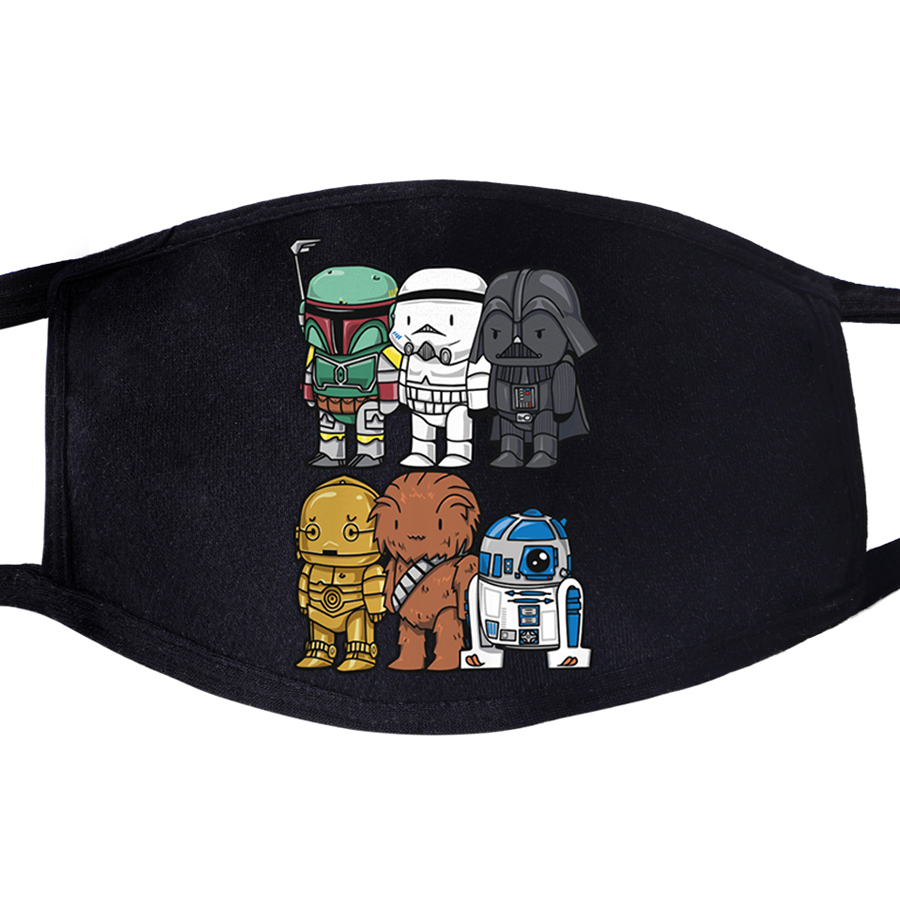 Star Wars Yoda Darth Vader Starwars Pattern Face Mask Mouth 1pcs Dustproof Unisex Anti Dust Cycling Respirator  Masks