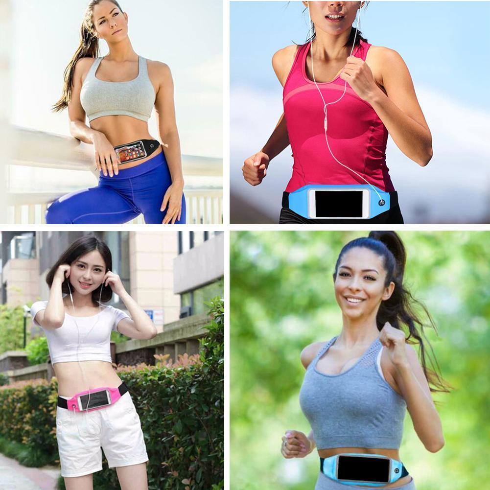 Sport Running Jogging Gym Waist Belt Bag Case Cover For Mobile Cell Phone Holder U3V1