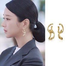 Модные корейские геометрические серьги подвески в виде ТВ звезды