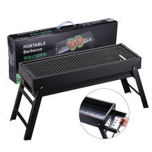 цена на New Large BBQ Barbecue Grill Folding Portable Charcoal Outdoor Camping Picnic Burner Foldable Charcoal Camping Barbecue Oven