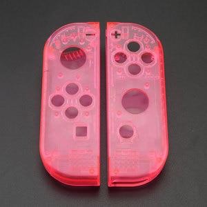 Image 2 - Custodia JCD custodia Cover per Nintendo Switch NS NX Joy Con Controller custodia protettiva di ricambio trasparente rosso blu