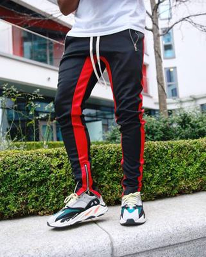Men's casual pants joggers men stacked sports fashions sweat pants mens slim fit pants men mens fashion sweat sport trousers