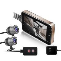 HD 1080P Motorcycle DVR Front & Rear Dual Lens Driving Video Recorder Dash Camera GPS Driving Recorder Motorbike Electronics