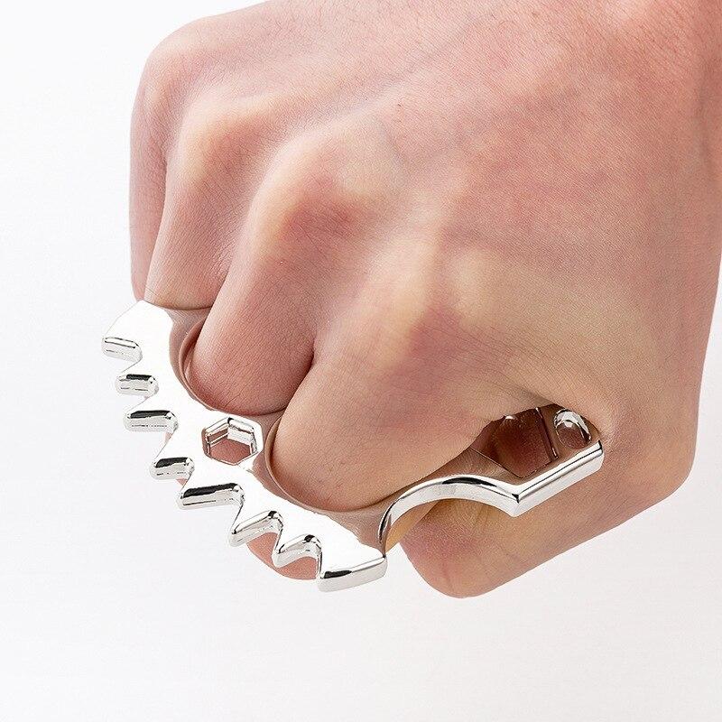 Creative Knuckles For Self-defense Multi-function Bottle Opener Outdoor Survival EDC Tool Self Defense Rings For Men Women