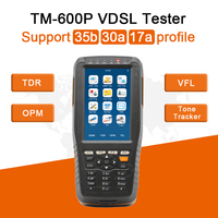 TM600P VDSL Tester pwoer Meter Support 35b 30a 17a Profil Full Functions TM 600, PON VFL,tone tracker,TDR cable fault locator